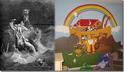"More Dore's ""The Deluge"", Less Nursery Noah"