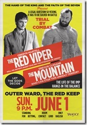 Game of Thrones - Mountain vs Viper Poster