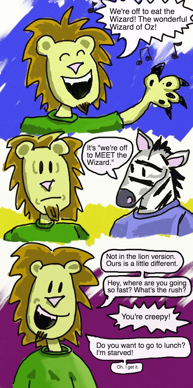 """Lion Zebra Friends Wizard of oz Lion Zebra """""""