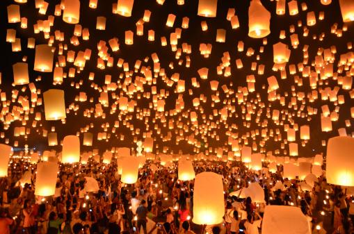 sky lanterns getty