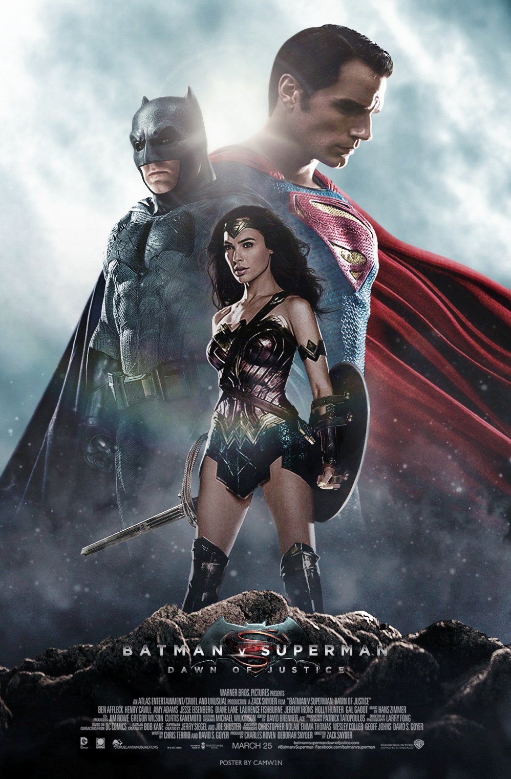 Batman V Superman Poster By Camw1n D9qol9d