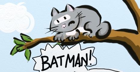 BATMAN V CAT IN TREE: DAWN IN THE EAST