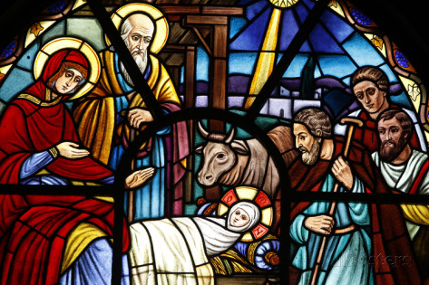 Nativity Painting Stained Glass