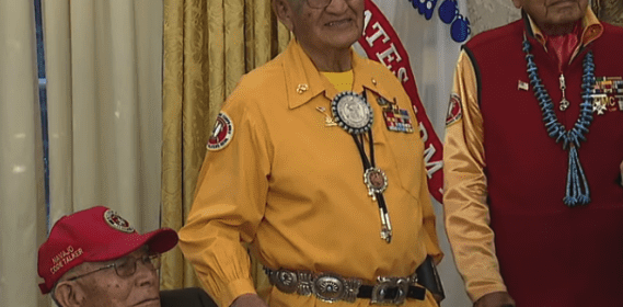 Peter MacDonald, president of the Navajo Code Talkers, shares about the Code Talkers at the White House
